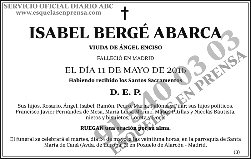 Isabel Bergé Abarca